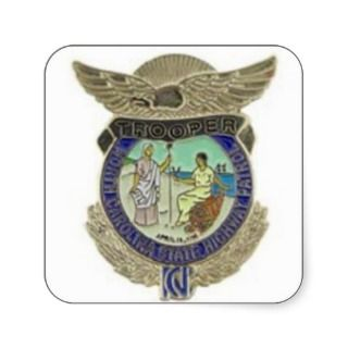 NORTH CAROLINA STATE HIGHWAY PATROL BADGE STICKER