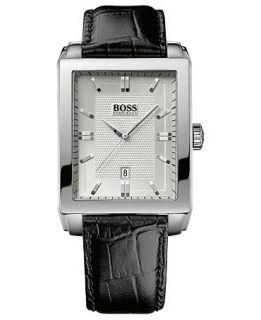 Hugo Boss Watch, Mens Black Leather Strap 35mm HB1018 1512770   All