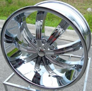 22 Chrome KMC Widow Wheels Rims Escalade Chevy Avalanche GMC Sierra