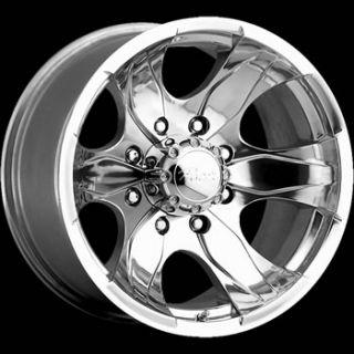 16x8 Polished Pacer Warrior Wheels 8x6.5 +10 GMC C 2500 PICKUP 8 LUG