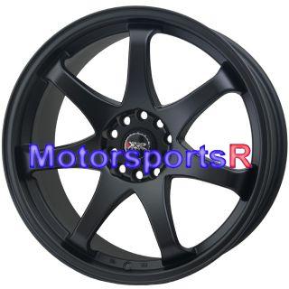 XXR 522 Flat Black Concave Rims Staggered 90 96 Nissan 300zx TT