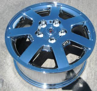 GM CADILLAC CTS OEM CHROME WHEELS RIMS DEVILLE DTS SEVILLE   SET OF 4