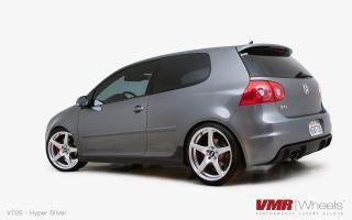 19x8 5 VMR 705 Matte Black Wheel 5x112 Fit VW CC Golf GTI Jetta Passat