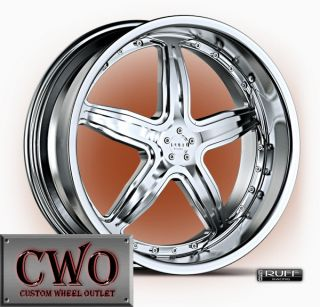 19 Chrome Ruff R931 Wheels Rims 5x114 3 5x120 5 Lug 350Z Mustang BMW 5