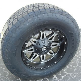 17 Black Fuel Hostage Wheels Nitto Terra Grappler Tires Jeep Wrangler