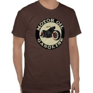 Harley Davidson   Bobber   engine oil   Gasoline Tees