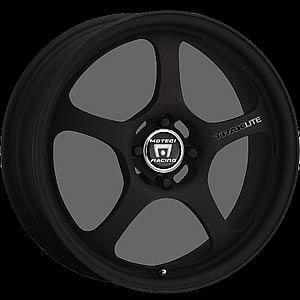 15x7 Black Wheels Rims Motegi Traklite 5x100