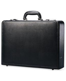 Samsonite Leather Attache, Expandable Business Case   Business