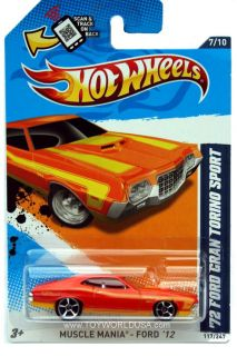2012 Hot Wheels Muscle Mania Ford #117 1972 Ford Gran Torino Sport