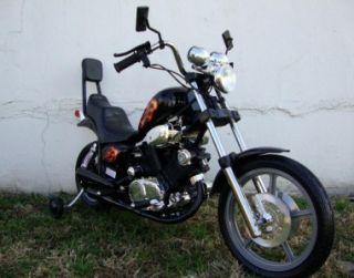 Black Electric Battery Power Ride On Motorcycle Harley 15 Wheels Bike