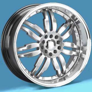 18 inch Volante Diamond Chrome Wheels 18x7 5 4 New Rims 5 Lug