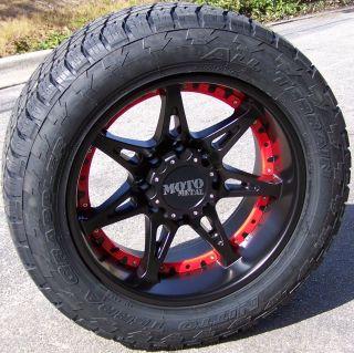 20 Black MO961 Wheels Nitto Terra Grappler Tires Chevy Silverado 1500