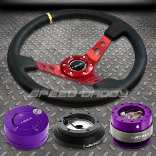 NRG 006RD Steering Wheel Hub Purple Quick Release Lock Kit 90 99 Mit