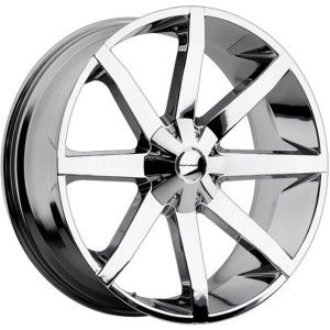24 inch KMC Slide Chrome Wheels Rims 5x115 300C Charger Challenger