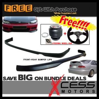 Civic EG 4D JDM Lip Combo Free Steering Wheel Hub