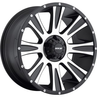 20x9 Black Machined Wheel MKW Offroad M87 6x5 5