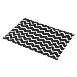 Black and White Zig Zag Pattern. Placemats