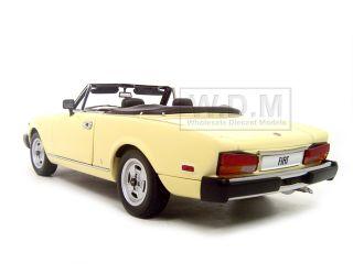 Fiat Spider 124 Cream 1 18 Autoart Diecast Model