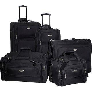 Samsonite Alta 5 PC Luggage Set Black
