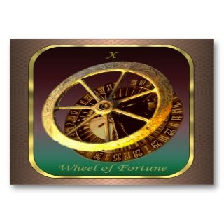 Cards   The Wheel of Fortune Business Card Template