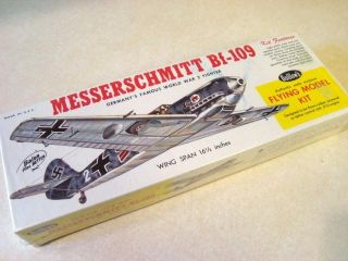 Guillows Messerschmitt BF 109 Model Airplane Kit New in Box