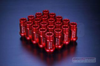 Godspeed T 3 Wheel Rim Racing Lug Nuts 50mm 20 Piece Open End M12 x 1