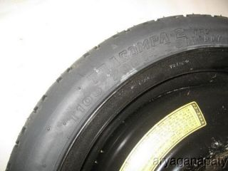 87 88 89 Honda Accord Spare Temporary Tire Wheel Rim 105 70 14