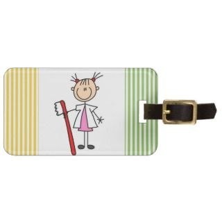 Dental Assistant With Toothbrush Luggage Tag