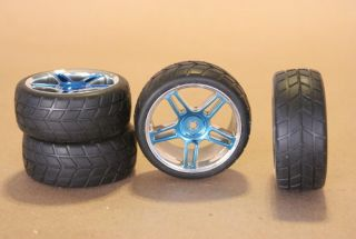 RC 1 10 Car Tires Wheels Rims White Kyosho Tamiya Blow Out Sale
