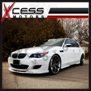 06 11 BMW E60 M5 Only Poly Urethane Black Front Bumper Lip Spoiler