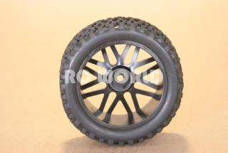 RC 1 10 Buggy Rims Tires Wheels Kyosho Tamiya Narrow Block