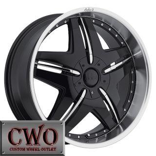 20 Black Dolce DC24 Rims 5x112 5x114 3 5 Lug Mercedes Audi VW Honda