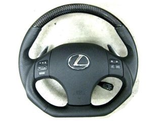 Lexus IS250 is350 isf Is F Black Carbon Sport Steering Wheel Blue