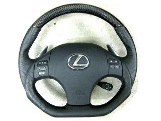 Lexus IS250 is350 isf Is F Black Carbon Sport Steering Wheel Blue