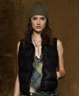 Denim & Supply Ralph Lauren Coat, Sleeveless Lace Vest