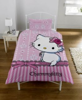 Charmmy Kitty Hello Kitty Panel Single Bed Duvet Quilt Cover Set Brand