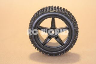 RC 1 10 Buggy Rims Tires Wheels Kyosho Tamiya Staggard Spike