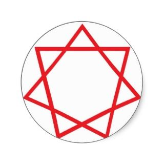 Red Heptagram Sticker