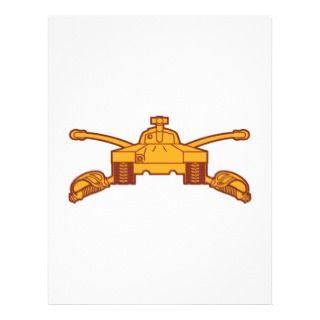 Armor Branch Insignia Custom Letterhead