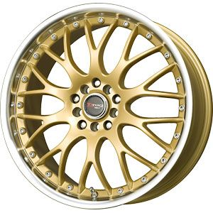 New 18x7 5 5x100 5x114 3 Drag Dr 19 Gold Wheels Rims