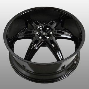 22 inch Verde Allusion Black Wheels Rims 5x115 300C Charger Magnum