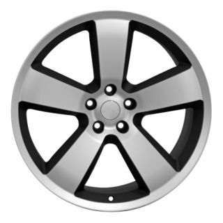 Charger Machined Matte Black Wheels Set of 4 Rims Fits Dodge