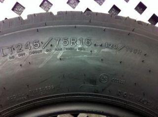 One Goodyear Wrangler HT Tire, LT245/75/16, Dot 4309, Tread 10 11/32.
