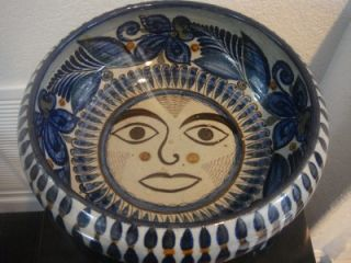 VINTAGE MEXICAN POTTERY LARGE BOWL COLLABORATION OF THE MASTERS JORGE