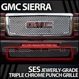 2007 2010 GMC Sierra Ses Chrome Punch Grille Bottom Only