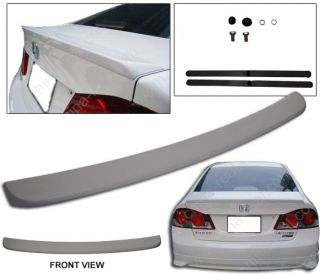 06 09 11 Honda Civic 4DR Sedan OE Style Trunk Spoiler Wing ABS