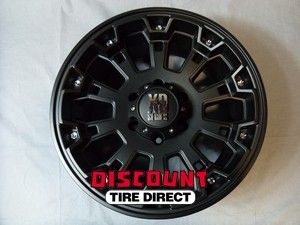 Used 18x9 6x139 7 6x139 7 XD Misfit Matte Black Wheels Rims