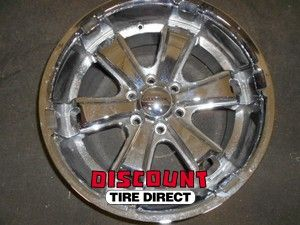 Used 20x9 6x135 6 135 Liquid Metal Dyno 6 Spoke Chrome Wheels/Rims