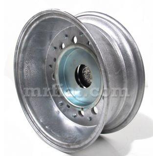 Fiat 500 Polished Aluminum Rim w Abarth Wheel Cap 12