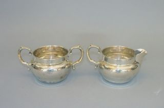 Barton Sterling Silver Creamer Sugar Bowl Set X728 162 Grams